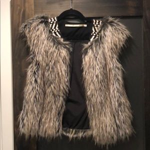 Faux fur embellished Cynthia Vincent Vest